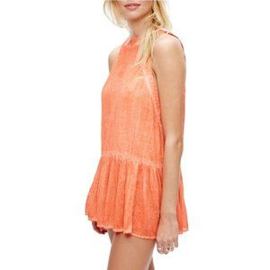Free People | Tunic Breathless Moments Coral XS